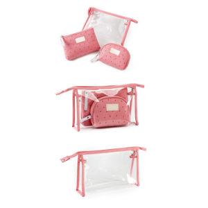O PVC impermeável promocionais Senhoras Espelho Beleza Viagem saco cosméticos