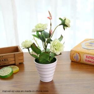 Китайский закрывается Цветы искусственные растения поддельные букет с цветком нагнетательного цилиндра