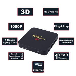 Heißer Verkaufs-MX Mini-Fernsehapparat-KastenAndroid 7.1 Amlogic S905W Vierradantriebwagen-Kern 64bit 2GB RAM/16GB Support 4K HD ROM-2.4GHz WiFi