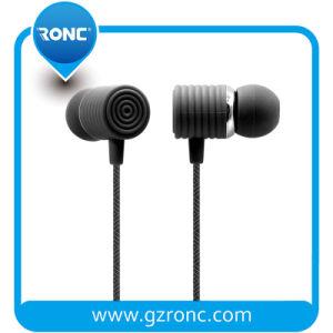 Auriculares auriculares auriculares com fios dos auscultadores de 3,5 mm com microfone incorporado