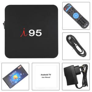 I 95 Kasten des gesetzten Spitzenkasten-IPTV Ott mit Amlogic S905W 1GB RAM/8GB ROMAndroid 7.1.2 OS-intelligentem Fernsehapparat-Kasten