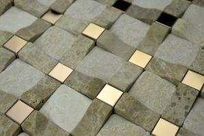 Steinmarmormosaik 3D für Fliese der Wand-Tile/3D