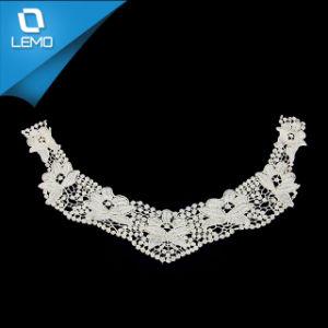 Gran Collar Collar de encaje de algodón blanco