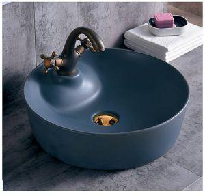 Articles sanitaires en céramique couleur noir mat Salle de Bain lavabo (C1270B)