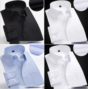Pas het Katoenen van de Stijl Formele Lange Overhemd van de Koker voor Mensen aan