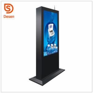 Suporte de chão 43''49''55 65 Alta Luminosidade Vertical Exterior Digital Signage Totem Toque WiFi publicidade LCD exibir monitor de ecrã táctil Kiosk com o Android
