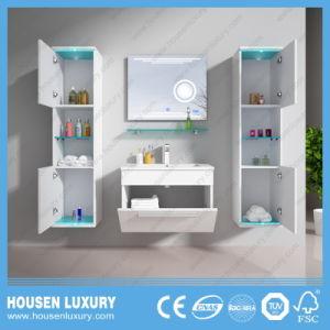 Estilo europeu de banho com LED azul acende Painel Lateral e Espelho de maquilhagem HS-M1104-600