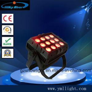 Balck en het Witte van de Draadloze LEIDENE DMX Op batterijen van het Aluminium 9LEDs 18W RGBWA+UV Licht Staaf van de Was