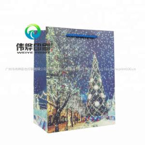 선전용 재생된 주문품 크리스마스 종이 선물 부대 인쇄