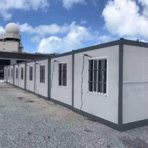 Роскошный Китая лагерь портативный складной 20-футовый контейнер дом Дом для продажи в комнате складывания крыльев