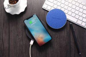 Ткань зарядное устройство беспроводной связи ци автомобиля зарядное устройство USB для iPhone и Samsung мобильный телефон