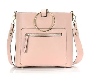 金属のリングのハンドルが付いている熱い販売の標準的なFashion PU Crossbody女性ハンドバッグ