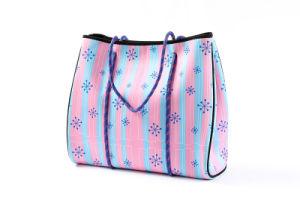 4399afee5cf Multiusos SBR neopreno bolsa de playa playa de surf Tote Bag bolsa de mamá  moda pañal Bolsa Bolsa de compras moda bolso con bolsillo de cremallera  interior