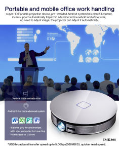 Freesuntv Android Smart Projector K808 DLP 220 Lumens Customization of Boot Animation