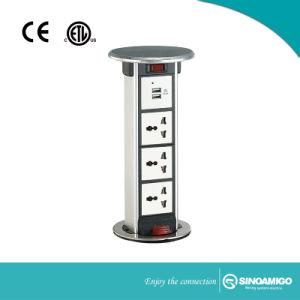 Bancadas de cozinha à prova de torre de energia Pop up soquetes com carregador USB 4.2A e dados