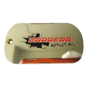 La Moda Artesanal Metal hecho personalizado Aluninum cráneo dog tag con la impresión de logotipo (011).