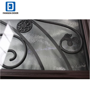 De volledige Decoratieve Glas Geschilderde Deur van de Ingang van Prehung van de Glasvezel Lite Dubbele
