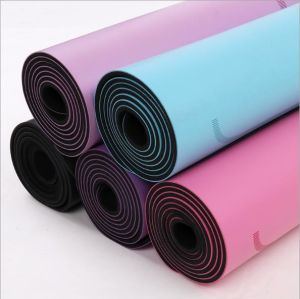 Mat van de Yoga van de Oefening van de Gymnastiek TPE van de Fabrikant van de Prijs van de fabriek de Goedkope Aërobe