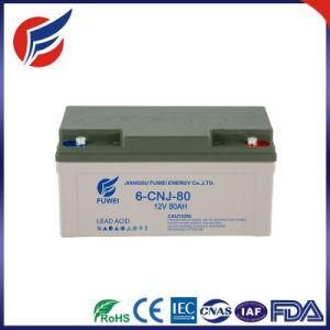 12V 80AH свинцово-кислотного аккумулятора для солнечной системы питания