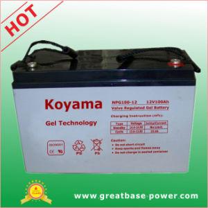 Sistema Fotovoltaico de 12V Batería de gel de la batería de Energía Solar 100Ah