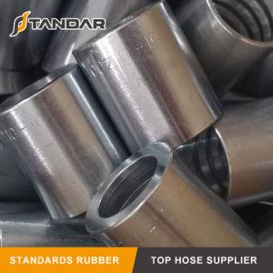 Hidráulico Espiral de alambre galvanizado de caucho Adaptador de manguera de aceite