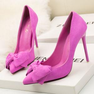 Les femmes Toe pointu de satin Talon haut chaud Stilettos Parti de la pompe de mariage robe de chaussures
