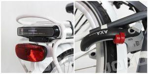 شخصيّة ناقل مدينة كهربائيّة يطوي درّاجة مع [دريف موتور] أماميّ ([جب-تدب28ز])