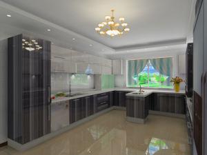 Уф Глянцевая современная кухня в европейском стиле шкафы (BR-U016)