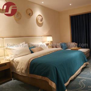 5 Star estilo Hilton King Hotel mobiliário com PU cabeceira de couro