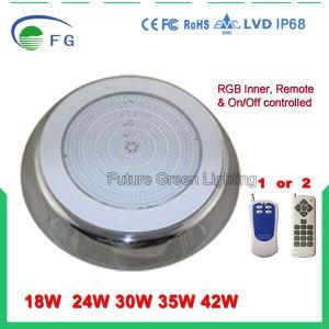 42W indicatore luminoso subacqueo a distanza della resina IP68 LED, indicatore luminoso della piscina del LED