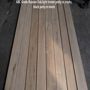 Rusia inacabada de ingeniería de roble piso de madera