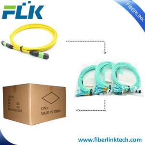 Cavo ottico pallido del cavo di zona di sblocco della fibra MPO MTP di lan