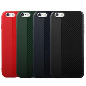 iPhone 7のプラスのケースのためのカーボンファイバー