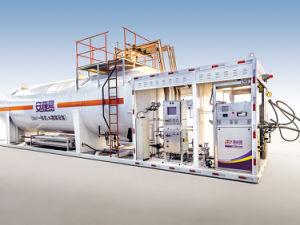 給油所のための液体の性質のガスの給油システム