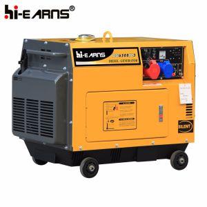 Air-Cooled tipo silenciosa de un cilindro de Generador Diesel (DG3500SE).