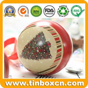 Bolas de estaño metal con cinta de embalaje de regalo de Navidad