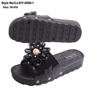 Новый стиль высокого каблука Pvcmaterial кружева цветочного женщин тапочки