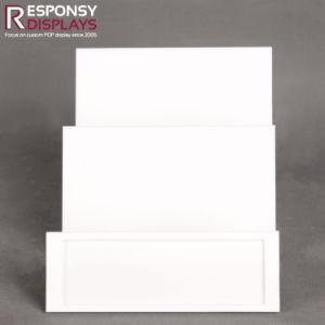 Masque facial blanc Pop comptoir Présentoir acrylique