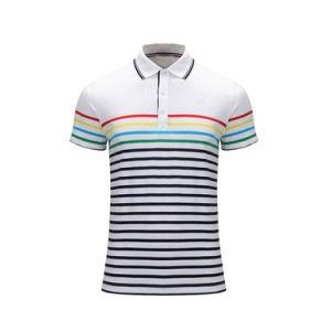 주문 옷 또는 의류 보통 공백 또는 줄무늬 인쇄하거나 인쇄한 자수 의복 또는 의복 100%년 면 불쾌 또는 저어지 복장 남자의 골프 폴로
