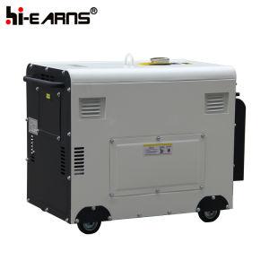 공냉식 디젤 엔진 발전기 세트 빨간색 (DG6500SE+ATS)