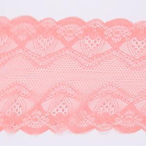 Rosa de encaje de fresado elástico de encaje francés