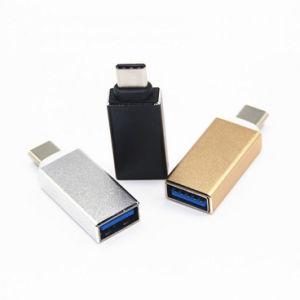 마이크로 USB 여성 접합기에 이음새가 없는 맨 위 금속 유형 C 남성