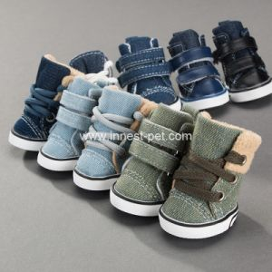 Suministro de productos pet lindo perro caliente zapatos, zapatos botas Pet