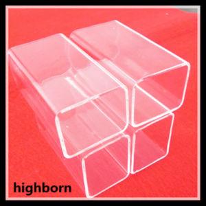 Limpar o tubo de vidro de sílica fundida Retângulo