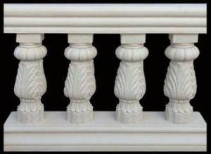 Escultura de piedra arenisca Materiales de construcción Balcón Cerca por decoraciones de la casa