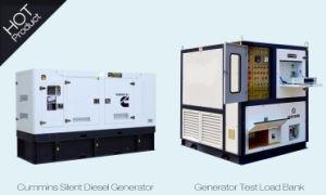 Cummins refrigerado por agua de alimentación silenciosa generador diésel de 150kVA.