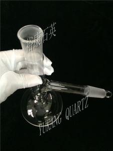 Vidro de quartzo Distlling personalizados frasco com rolha esmerilada de quartzo