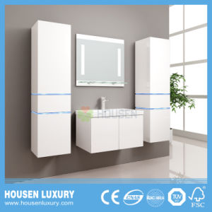 Casa de Banho Arc-Shaped mobiliário com luz LED azul e armário espelho HS-M1115-900