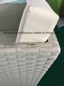 Новейшие алюминиевая рама диван, PE плетеной садовая мебель (TG-8014)