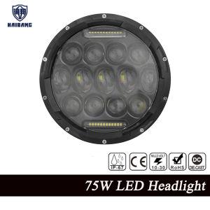 Accesorios de motocicletas, camiones y Jeep Wrangler 7 75W de lentes 4D LED CREE mesas altas luces de cruce